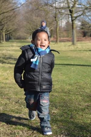Berlari di Wollaton Park